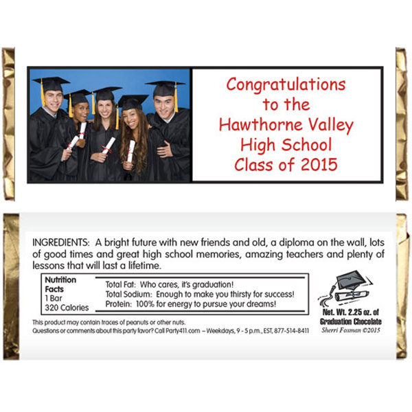 Graduation Theme Picture Candy Bar Wrapper
