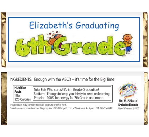 Graduation Kids Candy Bar Wrapper