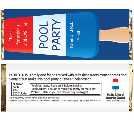 Patriotic Popsicle Theme Candy Bar Wrappers