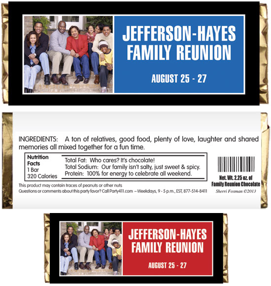 A Family Reunion Celebration Candy Bar Wrapper