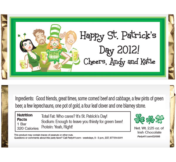 St. Patricks Day Pub Theme Candy Bar Wrapper / These personalized candy bar wrappers make for great party favors at your St. Pat's Day party