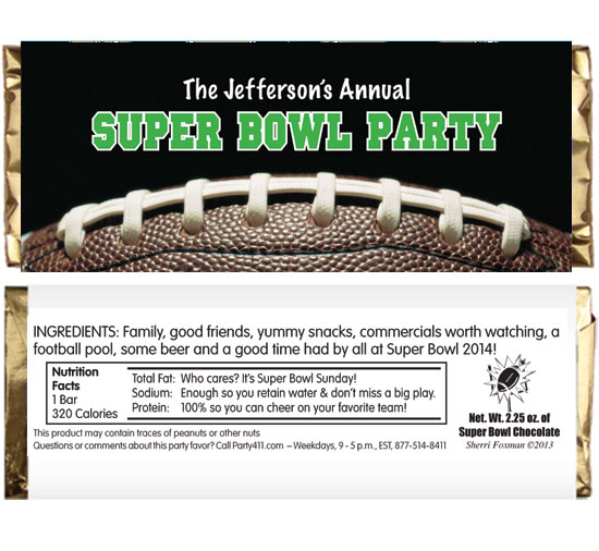 Football Party Theme Candy Bar Wrapper / A tasty party favor for your Super Bowl  or football theme party!