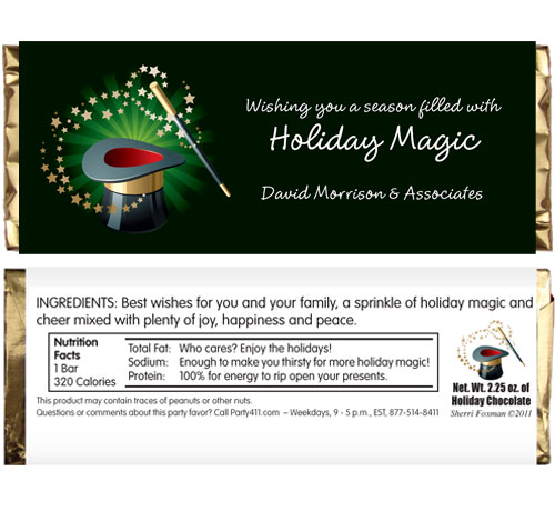 Holiday Magic Theme Candy Bar Wrapper / A magical theme candy bar