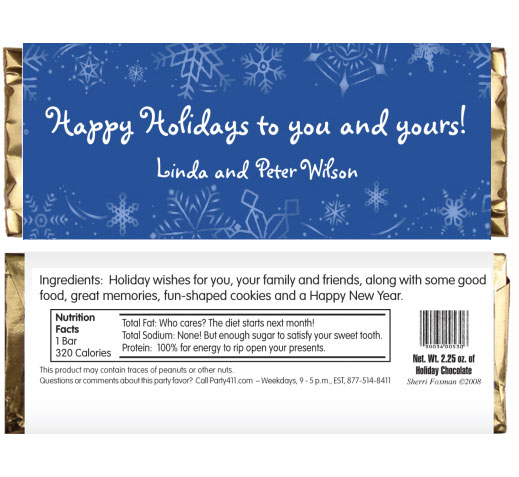 Winter Theme Candy Bar Wrapper