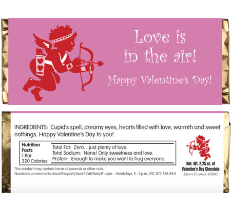 Valentines Day Cupid Candy Bar Wrapper / This candy bar wrapper is great for your Valentine's Day party