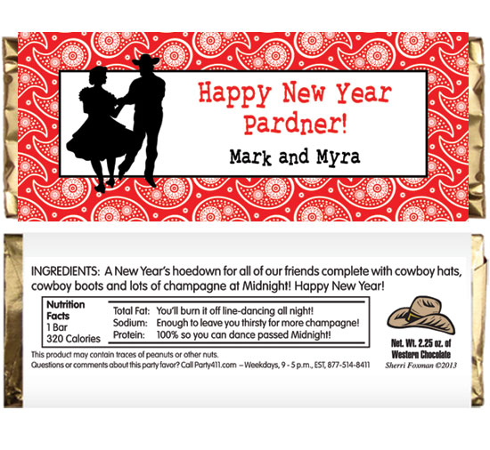 Western Hoedown Theme Candy Bar Wrapper
