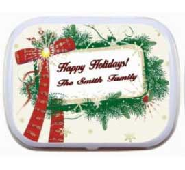 Christmas Bow Theme Mint Tin / A Christmas bow theme mint tin