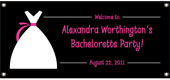 Bachelorette party theme banners