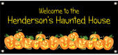 Personalized Halloween banners
