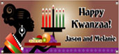 Kwanzaa theme personalized banners