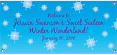 Winter theme party banners