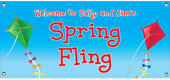 Spring theme party banners