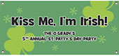 St. Patrick's Day theme banners