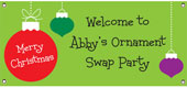 Christmas theme personalized banners