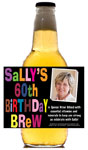 Personalized birthday beer bottle labels