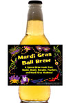 Custom Mardi Gras Beer Bottle Labels