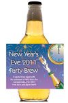 New Year's Party Beer Bottle Labels, Personalized