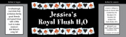 Casino water bottle labels