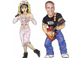 Music and Decades Theme Lifesize Cutouts