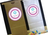 Personalized bar and bat mitzvah party favor bags