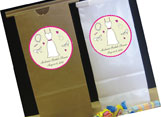 Personalized wedding and shower party favor bags
