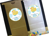 Baby shower personalized party favor bags