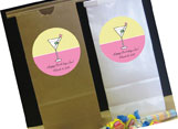 Adult birthday party favor bags
