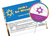 Bar and bat mitzvah party favors