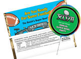 Football theme candy bars