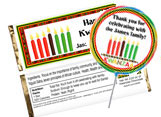 Personalized Kwanzaa Candy Bars