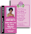 Teen theme invitations, sweet 16 invitations