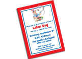 Custom patriotic invitations, party supplies and favors