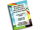 Custom St. Patrick's Day invitations, party supplies and favors