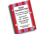 Custom Valentine's Day invitations, party supplies and favors