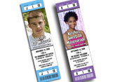 photo ticket invitations
