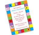 Candyland Bat Mitzvah Invitations and Favors