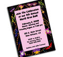 Personalized Mardi Gras party invitations, decorations and party supplies