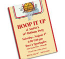 Basketball theme Bar Mitzvah invitations and favors