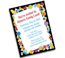 Candy Theme Bat Mitzvah Invitations and Favors