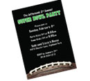 Football theme Bar Mitzvah invitations and favors