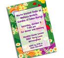 Personalized Spring party invitations, decorations and party supplies