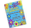 Hippie Retro Bat or Bar Mitzvah Invitations and Favors