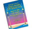 Luau party invitations and personalized favors