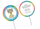 Chanukah theme personalized lollipops