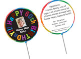 Adult birthday party personalized lollipop favors