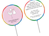 baby shower personalized lollipop favors