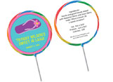 Luau and Beach theme lollipops