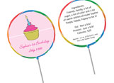 Personalized lollipop favors