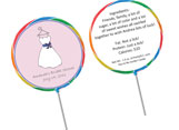 Personalized wedding and shower lollipop favors