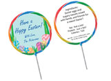 Custom Easter lollipops
